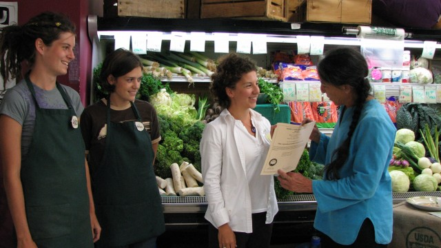 FOG's work on the Agricultural Justice Project helps farms and businesses like Bluff Country Co-op receive Food Justice Certification.
