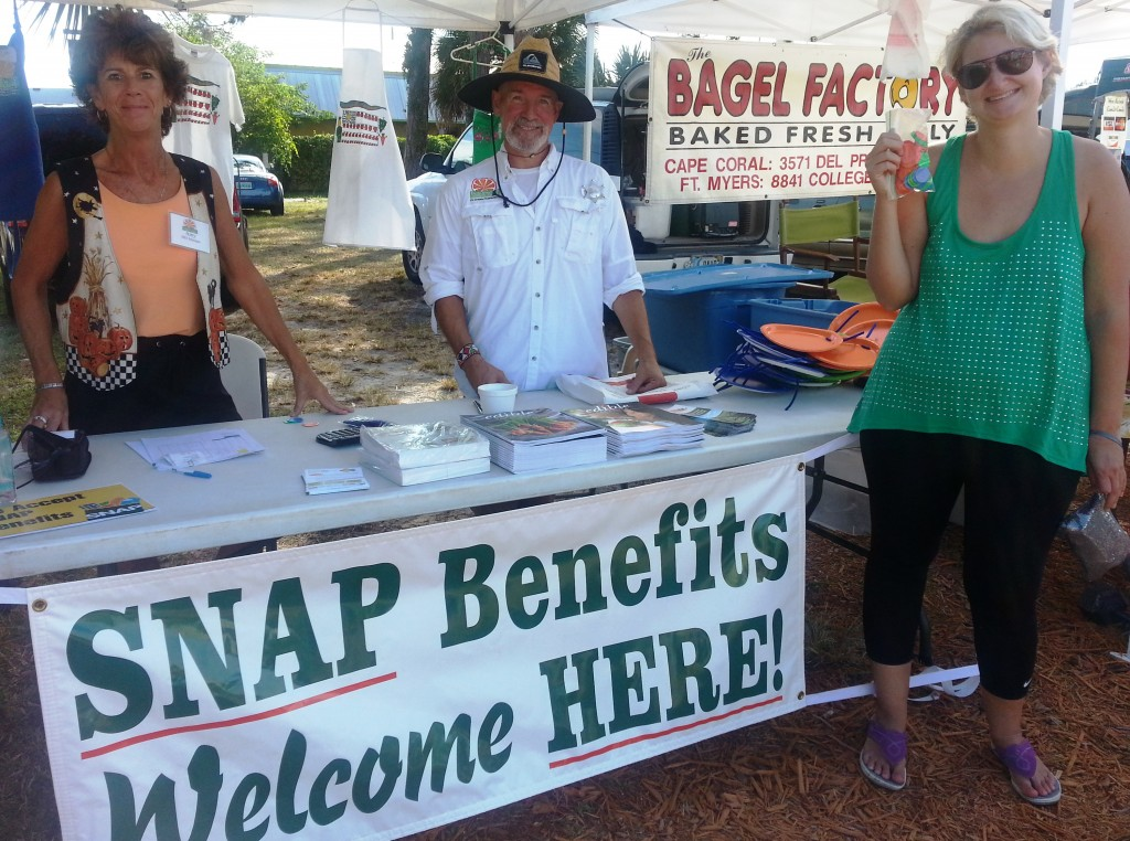 Englewood FM manager Lee and SNAP Manager Amy
